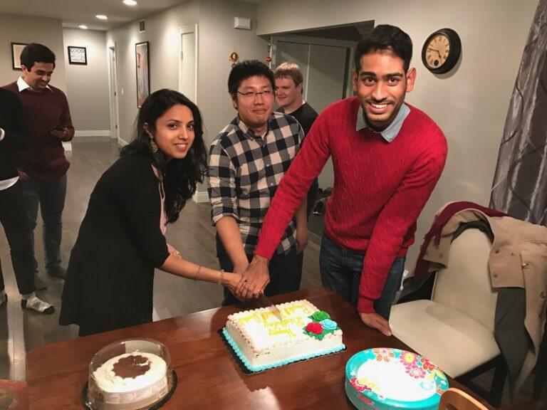 2016.11 Prapti, Bijal, Justin's birthday