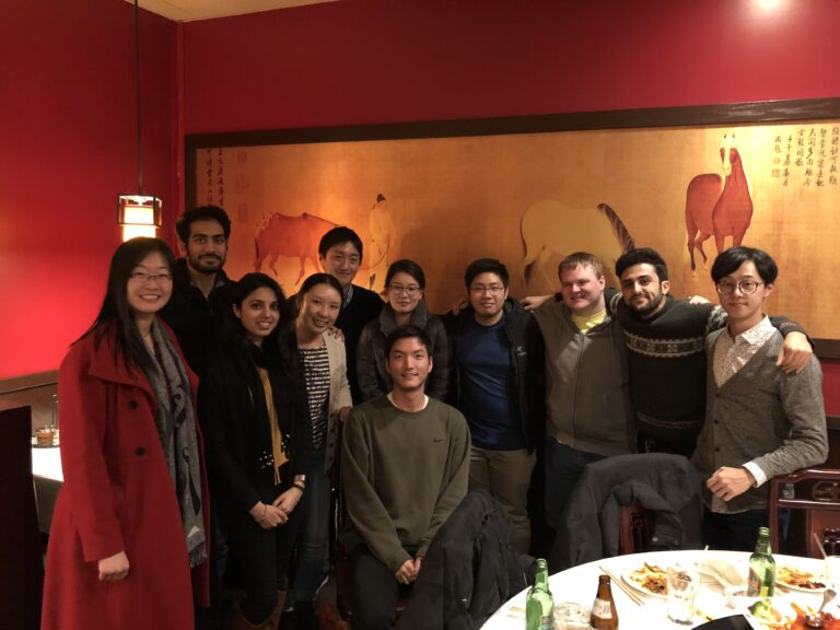 2017.12 Group holiday dinner and Tim's 1st paper celebration